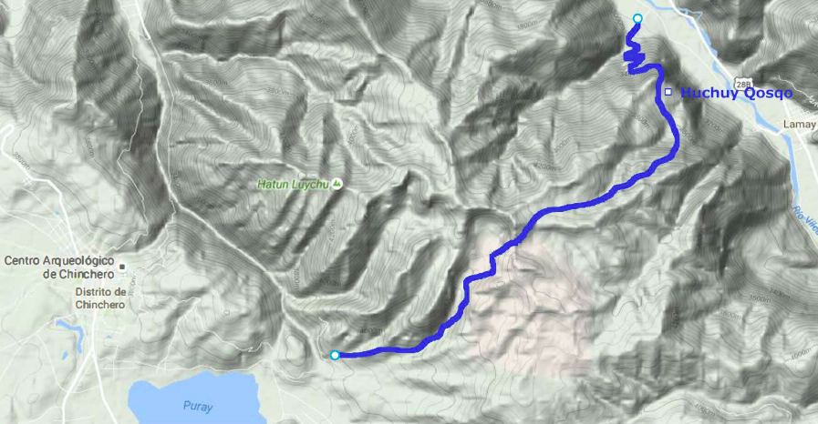 Le chemin d'Huchuy Qosqo